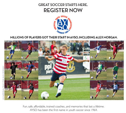 Great Soccer Starts Here - REGISTER NOW - Millions of players got their start in AYSO, including Alex Morgan. Fun, safe, affordable, trained coaches...and memories that last a lifetime. AYSO has been the first name in youth soccer since 1964.